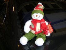 Red, White, & Green Colorful Poseable Snowman NWT in Houston, Texas