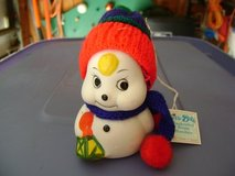 Bisque-Painted Snowman Christmas Bell/Ornament in Houston, Texas