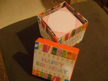 Birthday Box With Note Cube in Houston, Texas